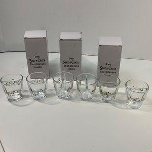 Lot of 6 RumChata Shot-A-Chata Split Shot Glass